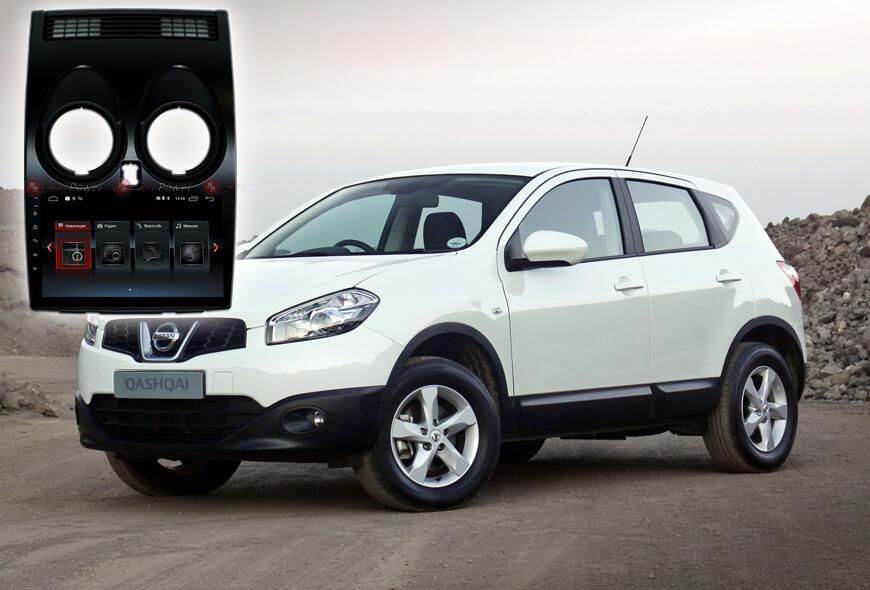 9349)Установочный комплект 9 дюймов 30030 IPS Nissan Qashqai J10 (2006-2013) (без индикации ремней)