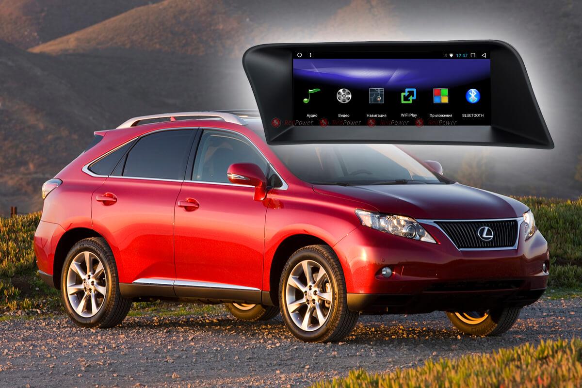 10640)Головное устройство Redpower 51419 IPS Lexus RX270 с монохромным дисплеем (2009-2015)