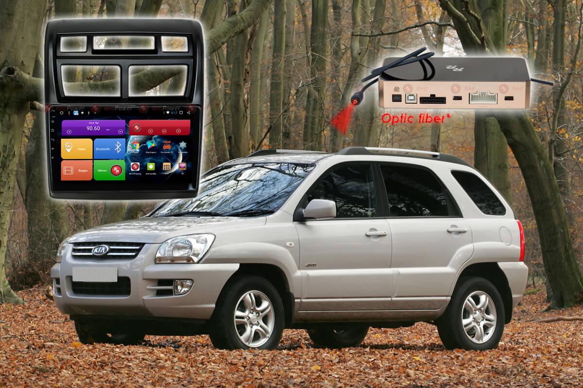 9289)Установочный комплект 9 дюймов 31075 IPS DSP KIA Sportage (рестайл,май 2008-2010))