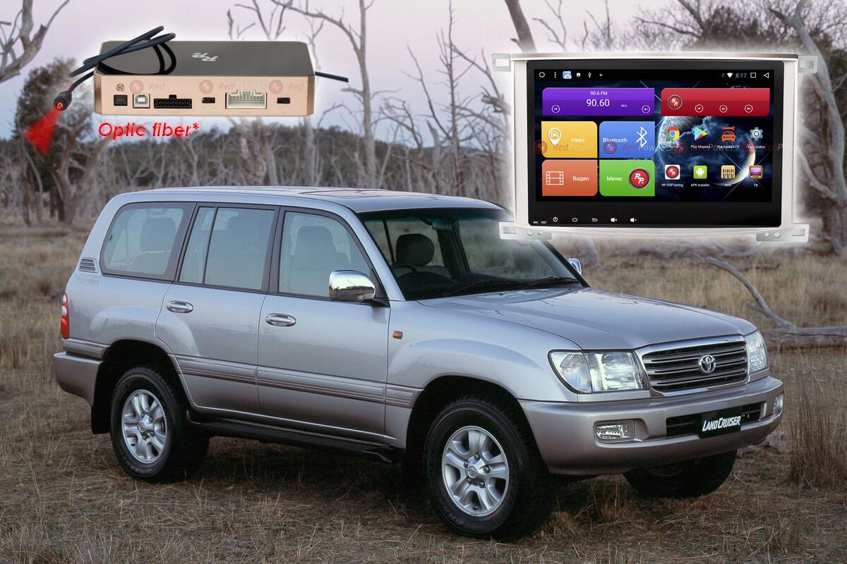 9399)Головное устройство Redpower 31383 IPS Toyota LC100 (2005-2007) Lexus LX470 Упр-е климата с шт.устр.