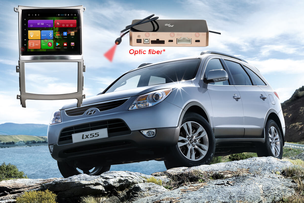 10514)Автомагнитола Redpower 51197 IPS DSP Hyundai ix55 (без подсветки сенсорных кнопок)