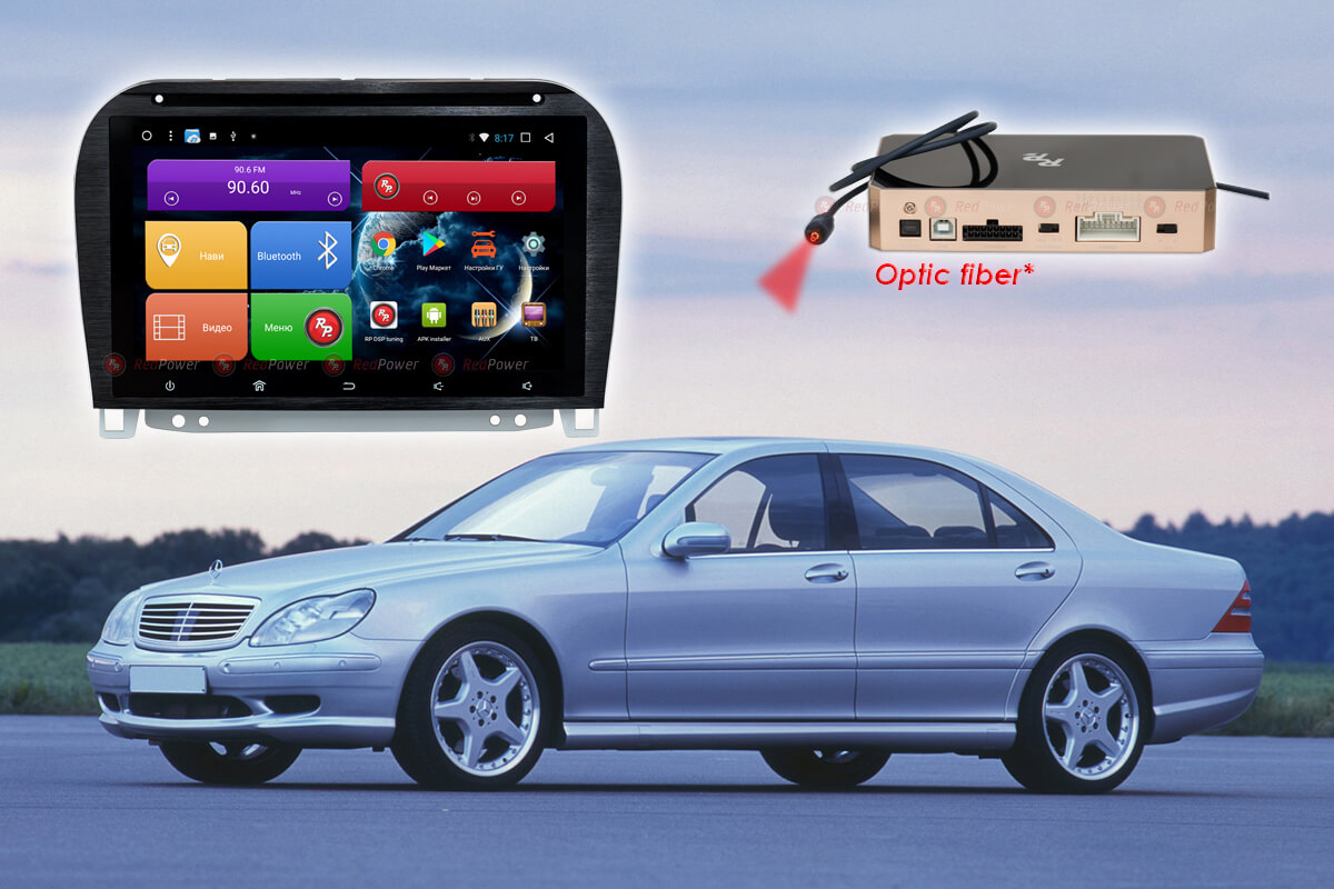 9309)Автомагнитола Redpower 31350 IPS DSP Mercedes-Benz S-класс (1998-05)(Без подсветки сенсорных кнопок)
