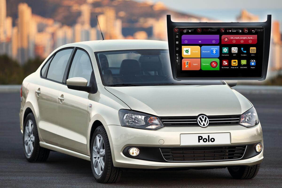 12147)Volkswagen Polo 5,5 рестайл.(2009-2019) УК 61134 9 дюймов