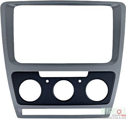 3624)SKODA Octavia (A5) 04-13  для CHR-8676 Silver  (Мех.печь) (Incar RSC-8676 M-SL)