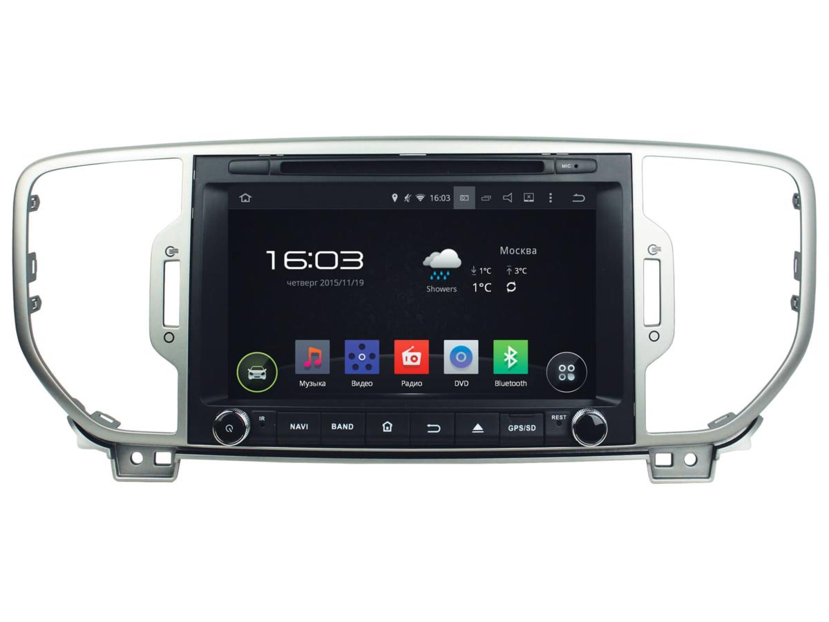 3939)KIA Sportage 16+, Android 4.4.4 (INCAR AHR-1885)
