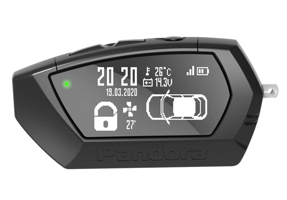 11967)Брелок LCD D023 black DXL 4750