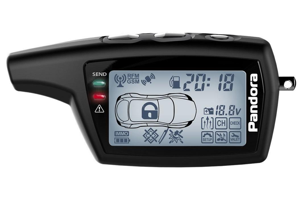 11975)Брелок LCD DXL 079 black DX 50S