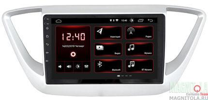 "7240)ШГУ Hyundai Solaris 16+ (INCAR XTA-2402) Android 8.1, 1024*600, BT, IPS, wi-fi, 9"""