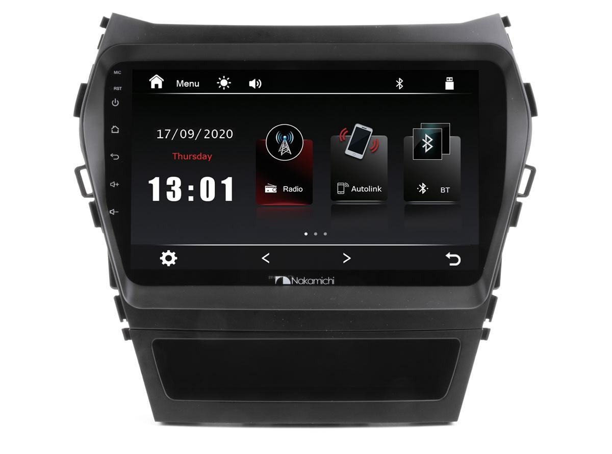 "14497)ШГУ Hyundai Santa Fe 13-18 (Nakamichi NTA-2409) 4x50Вт, RDS, MP5, USB, BT,2.5D экран, мультиподсветка, MirrorLink, 9"""