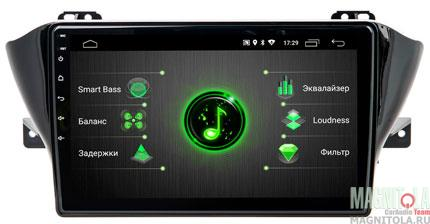 """7766)ШГУ Geely Atlas 17+ (INCAR DTA-1901) Android 9.0, 1024*600, wi-fi, IPS, BT, 10"""", DSP"""