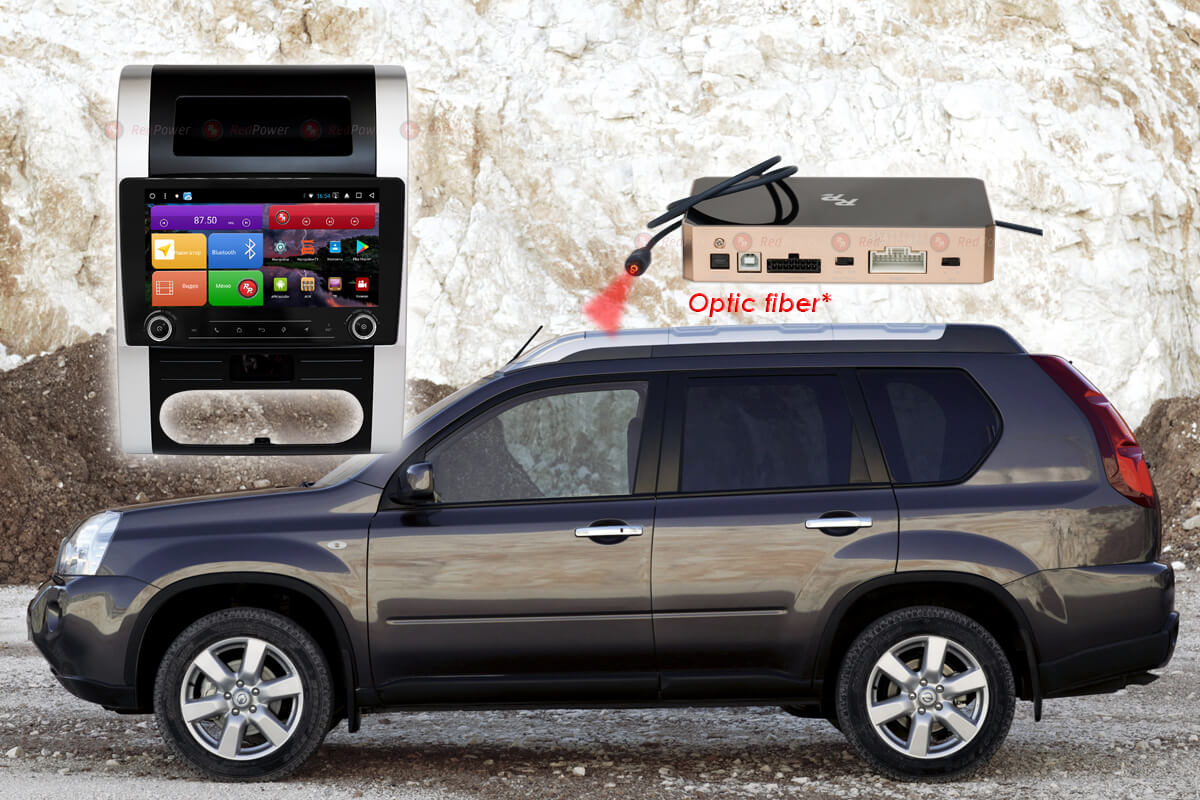 11709)Установочный комплект 9,2' KNOB K51001 IPS DSP Nissan X-Trail T31 (2007-2015) с климат-контролем