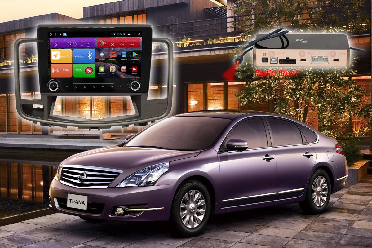 11732)Установочный комплект 9,2' KNOB K51300 IPS DSP Nissan Teana J32 (2008-2013) с монохромным дисплеем