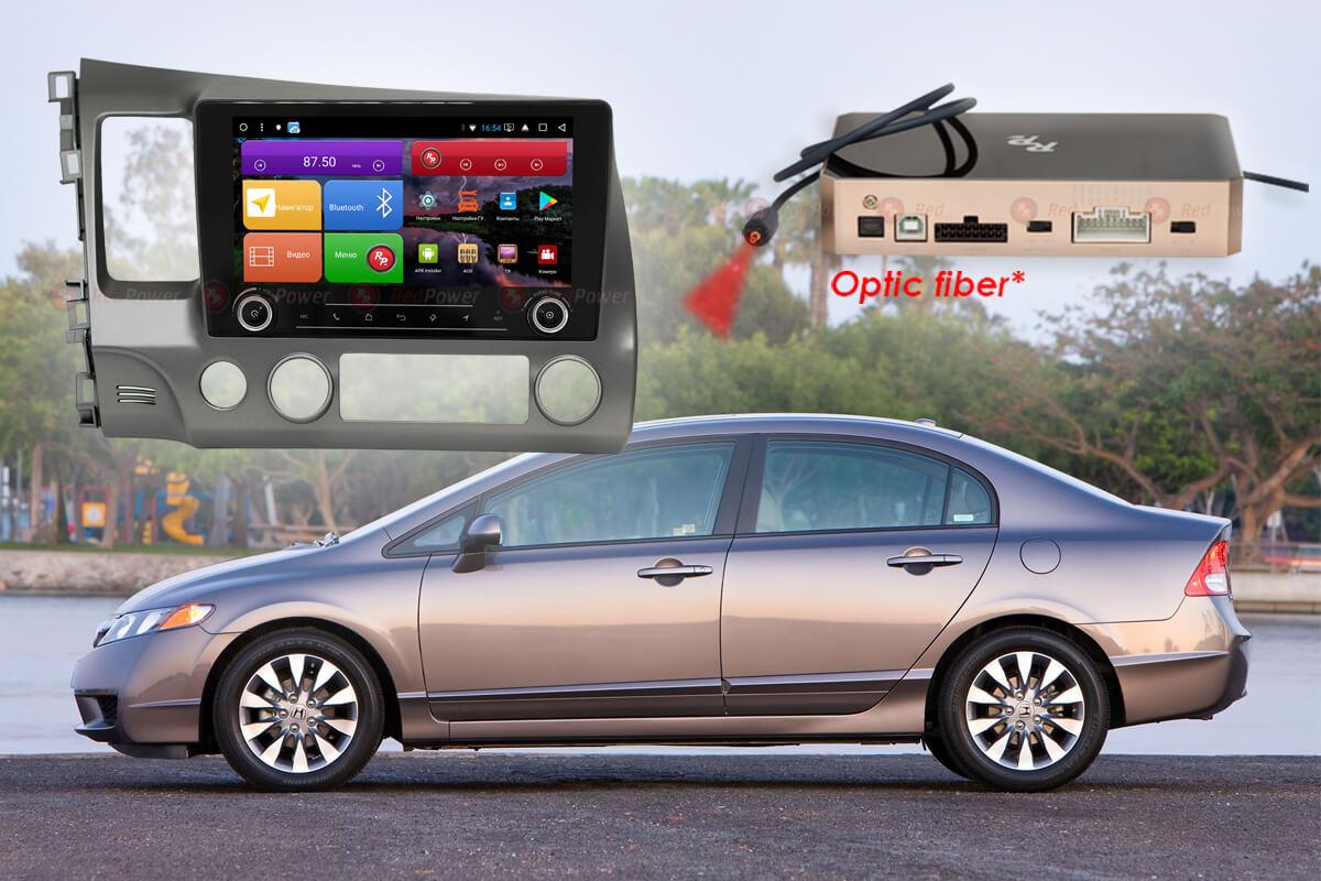 11712)Установочный комплект 9,2' KNOB K51024 IPS DSP Honda Civic (2006-2012)