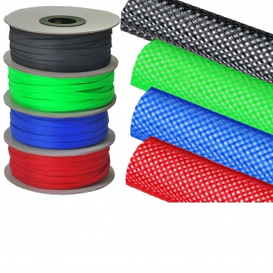 1300)Оплетка кабельная защитная 10 мм зеленая