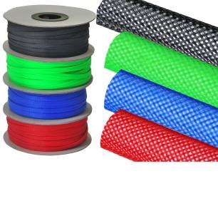 1305)Оплетка кабельная защитная 12 мм красная