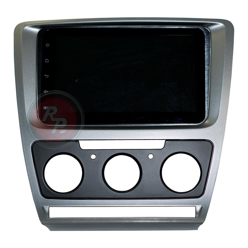 9632)Рамка Skoda Octavia 5 с кондиционером,тёмно-серая
