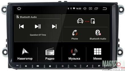 "10862)ШГУ VW Passat B6,B7,Golf 5,6,Jetta,Caravelle,Transporter (INCAR TSA-8644) Android 9.0, 1024*600,wi-fi, IPS, 9"""