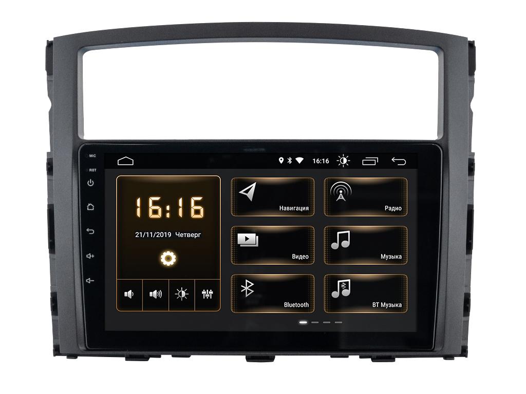 "9777)ШГУ Mitsubishi Pajero-4 (INCAR XTA-6104) Android 9.0, 1024*600, wi-fi, IPS, BT, 10"""